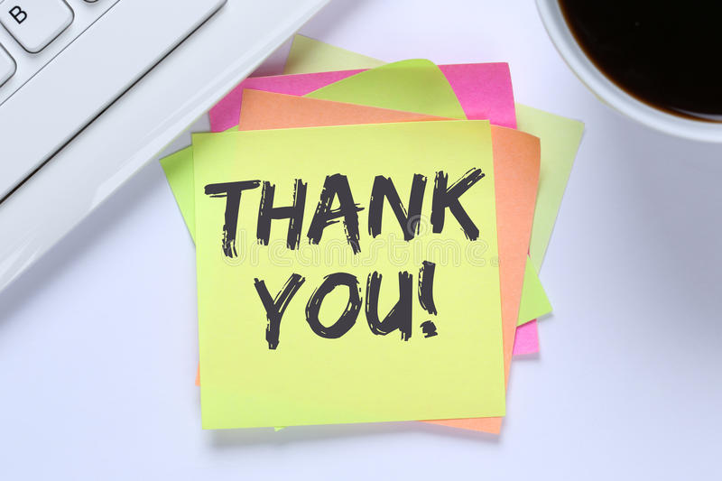 thank-you-notepaper-office-business-desk-computer-keyboard-85534493